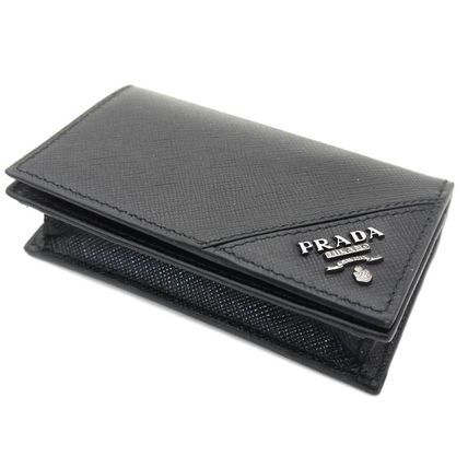 PRADA Collaboration Plain Leather Card Holders