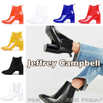 Jeffrey Campbell Enamel Plain Block Heels High Heel Boots