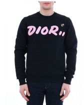 Christian Dior Pullovers Unisex Sweat Street Style Collaboration