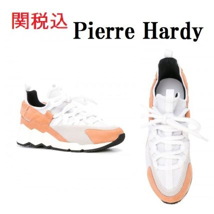 Lace-up Casual Style Blended Fabrics Street Style Bi-color
