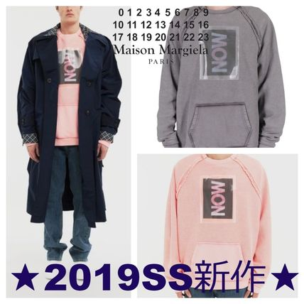 Maison Martin Margiela Sweatshirts Crew Neck Street Style Long Sleeves Cotton Sweatshirts