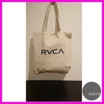 RVCA Unisex Canvas Street Style A4 Plain Shoppers