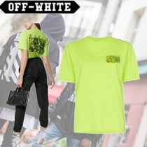 Off-White Crew Neck Cotton Medium Short Sleeves T-Shirts