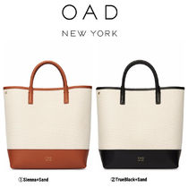 OAD NEW YORK Casual Style Leather Totes