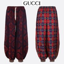 GUCCI Casual Style Silk Street Style Long Sarouel Pants