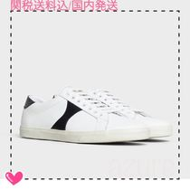 CELINE Rubber Sole Leather Low-Top Sneakers