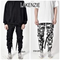 Camouflage Street Style Plain Cotton Cargo Pants