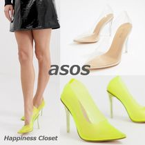 ASOS Casual Style Plain Pin Heels Pointed Toe Pumps & Mules