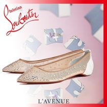Christian Louboutin Open Toe With Jewels Elegant Style Espadrille Shoes