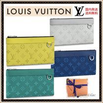 Louis Vuitton TAIGA Monogram Bag in Bag 2WAY Leather Clutches