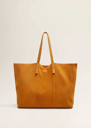 Suede A4 Plain Elegant Style Totes