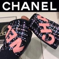 CHANEL ICON Blended Fabrics Street Style Leather Handmade