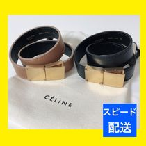 CELINE Classic Bangles Casual Style Unisex Leather Brass Bracelets