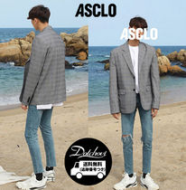 ASCLO Other Check Patterns Zigzag Unisex Street Style