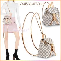 Louis Vuitton DAMIER AZUR Other Check Patterns Canvas Blended Fabrics 2WAY Bi-color
