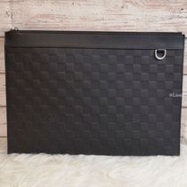 Louis Vuitton DAMIER INFINI Other Check Patterns Blended Fabrics Street Style Bag in Bag