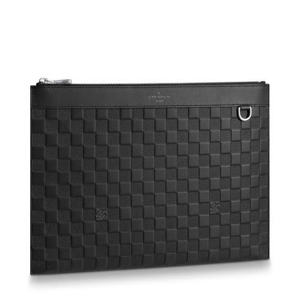 Louis Vuitton Clutches Other Check Patterns Blended Fabrics Street Style Bag in Bag 3