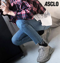 ASCLO Street Style Plain Leather Sneakers