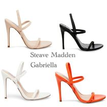 Steve Madden Open Toe Casual Style Plain Pin Heels PVC Clothing