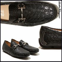 Salvatore Ferragamo Driving Shoes Other Animal Patterns U Tips