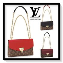Louis Vuitton SAINT PLACIDE Monogram Canvas Blended Fabrics 2WAY Chain Office Style Bold