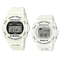CASIO Casual Style Silicon Round Digital Watches