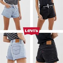 Levi's Short Casual Style Denim Denim & Cotton Shorts