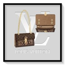 Louis Vuitton Canvas Blended Fabrics 2WAY Chain Python Elegant Style