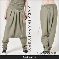 Aakasha Casual Style Linen Plain Long Sarouel Pants