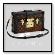 Louis Vuitton PETITE MALLE Casual Style Blended Fabrics 2WAY Leather Handbags