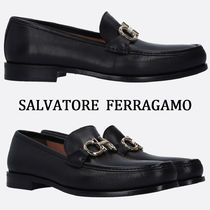 Salvatore Ferragamo Moccasin Blended Fabrics Plain Loafers & Slip-ons