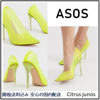ASOS Pointed Toe Plain Pin Heels Elegant Style Pointed Toe Pumps & Mules