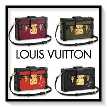 Louis Vuitton PETITE MALLE Monogram Blended Fabrics 2WAY Leather Party Style Handbags