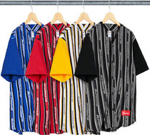 Supreme Street Style Cotton Short Sleeves Tops