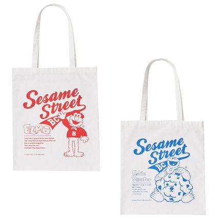 Unisex Canvas Street Style Collaboration A4 Plain Shoppers