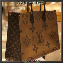 Louis Vuitton MONOGRAM Monogram Unisex Canvas A4 2WAY Bi-color Elegant Style Totes