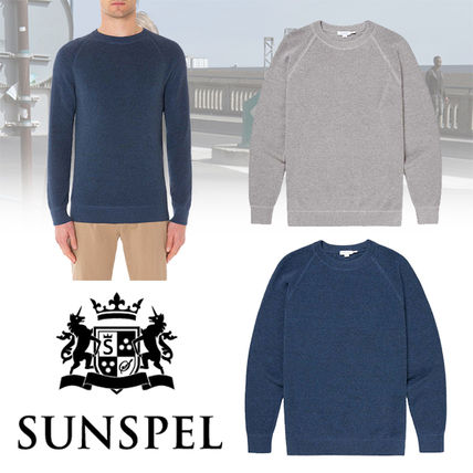Crew Neck Long Sleeves Plain Cotton Tops