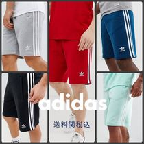 adidas Stripes Street Style Cotton Joggers Shorts