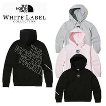THE NORTH FACE Unisex Sweat Plain Logos on the Sleeves Hoodies