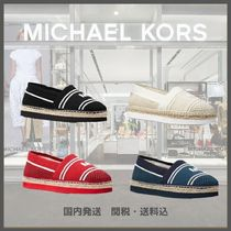 Michael Kors Round Toe Rubber Sole Casual Style Plain Slip-On Shoes