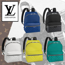 Louis Vuitton TAIGA A4 Leather Backpacks