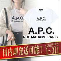 A.P.C. Crew Neck Plain Medium Short Sleeves Logo T-Shirt Logo
