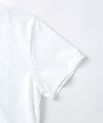 A.P.C. Crew Neck Crew Neck Plain Short Sleeves Logo T-Shirt Logo 5