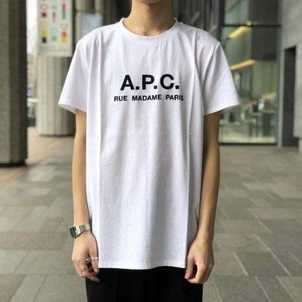 A.P.C. Crew Neck Crew Neck Plain Short Sleeves Logo T-Shirt Logo 8