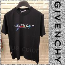 GIVENCHY Crew Neck Pullovers Monogram Street Style Cotton