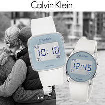 Calvin Klein Casual Style Unisex Street Style Silicon Digital Watches