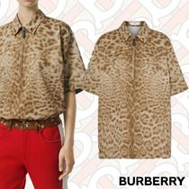 Burberry Casual Style Street Style Other Animal Patterns Cotton