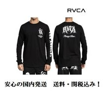 RVCA Unisex Long Sleeves Cotton Long Sleeve T-Shirts