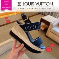 Louis Vuitton Open Toe Plain Elegant Style Sandals