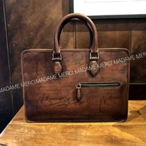Berluti 2WAY Plain Leather Logo Business & Briefcases